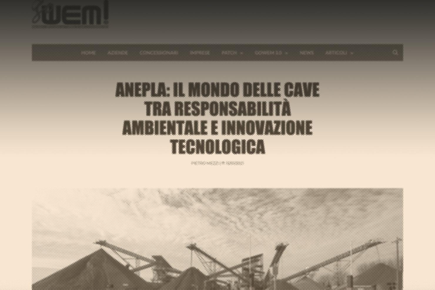Anepla: il mondo delle cave tra responsabilità ambientale e innovazione tecnologica