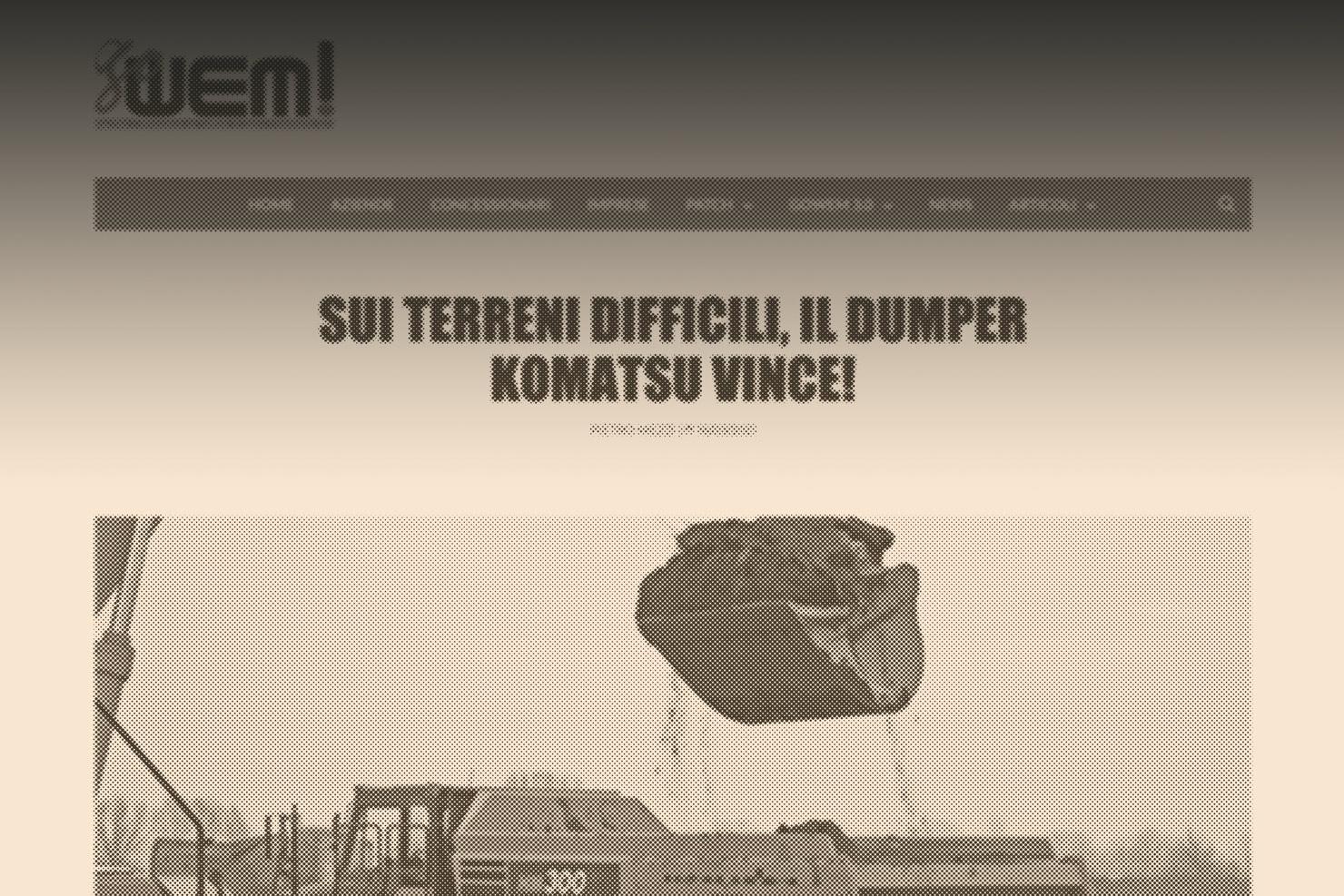 dall'esperienza Bassanetti… Sui terreni difficili, il dumper Komatsu vince!
